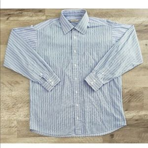 Burberry London Striped Button Down Long Sleeve